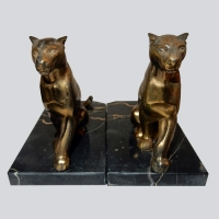 French - Art Deco Panther Bookends