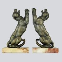 French - Art Deco Lion Bookends