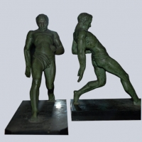 French - Art Deco Wrestler Bookends