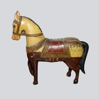 INDIAN WOOD HORSE