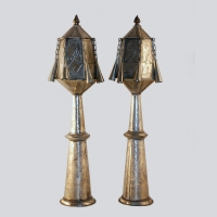 Moroccan - A Pair of Torah Finials